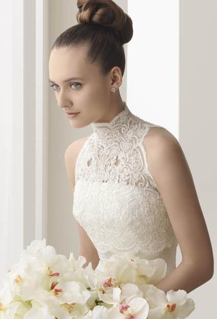 vestidos de novias cuello alto o cisne 2016 | siempre bella quiero estar